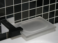 Soap dish KUBIC chrome+black