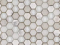 Aura Hexagon Whites Mosaics