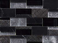 Mozaika Renaissance Bricks Black