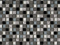 Imperia Mix Silver Blue Blacks Mosaics