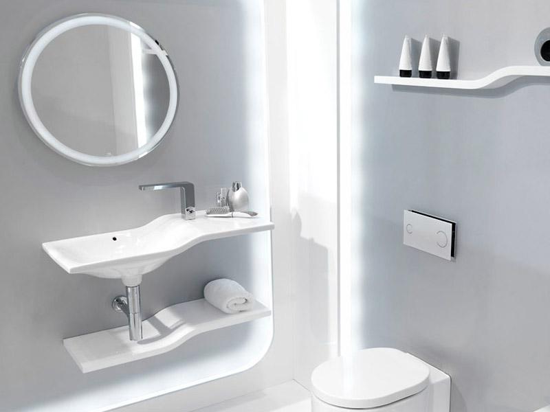 Zrcadlo do koupelny Forma round