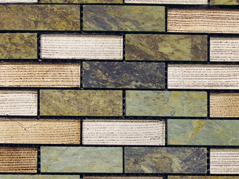 Mozaika Tecno Brick Nepal Silver Glass