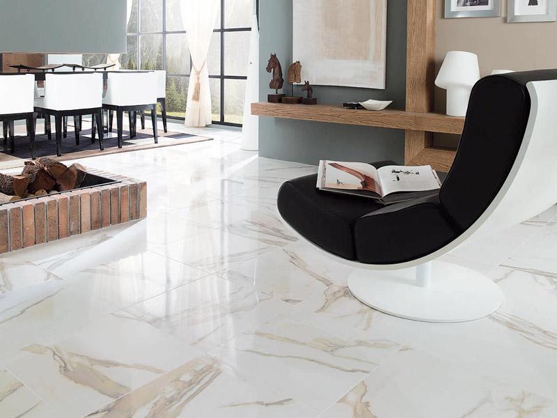 Dlažba Crystal Floor White