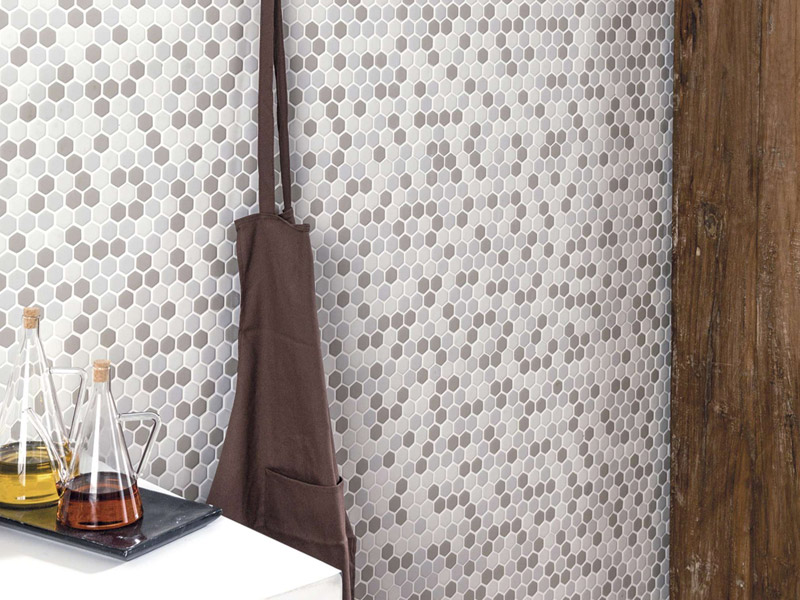 Mozaika Glaze Hexagon Beige Matt