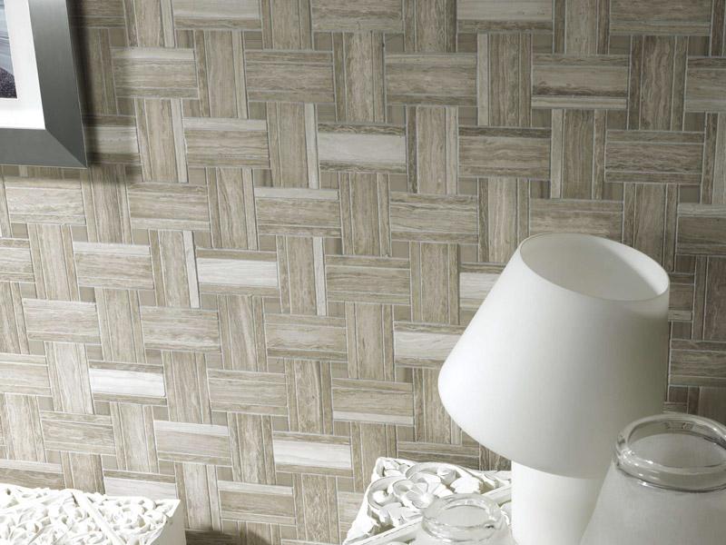 Mozaika Lines Silver Wood Grey