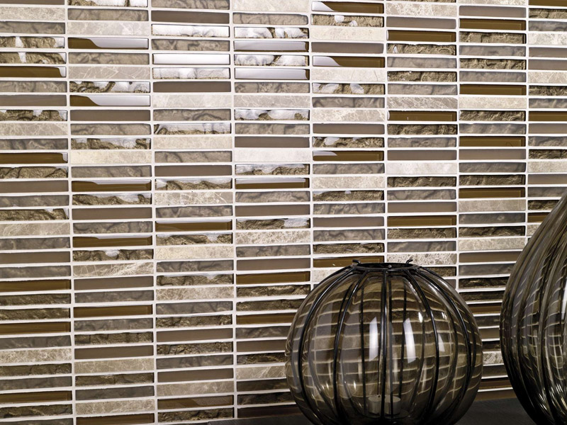 Mozaika Tecno Linear Brown Capuccino