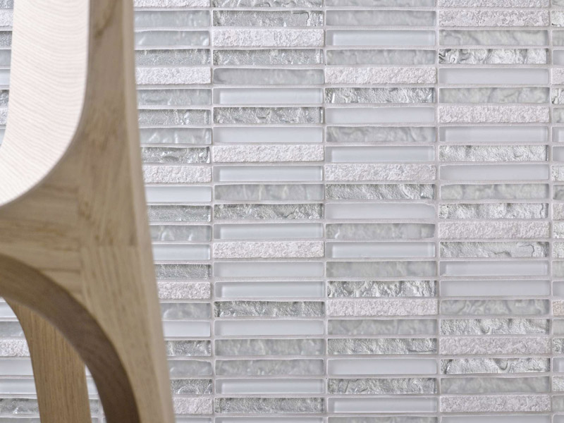 Mozaika Tecno Linear Silver White