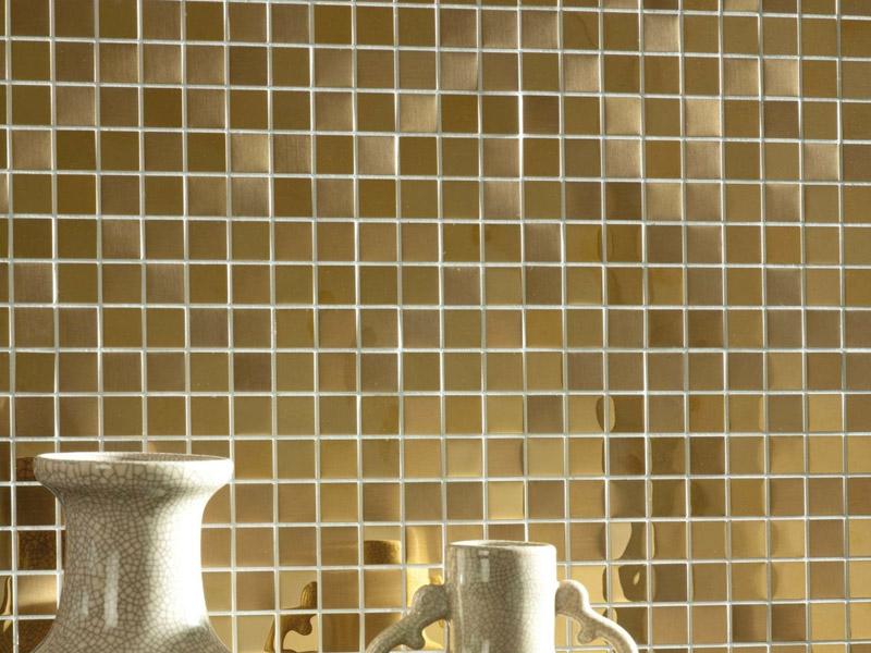 Mozaika Metal Acero Highlights Golden